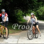 """Andrea and Steve on the bikes Photo """"Borrowed"""" from: Hudson Photographic"""