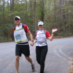 Steve and Andrea running the dreaded Three Legged leg.