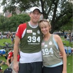 """Kelley And Steve - Pre Race Photo """"Borrowed"""" from: Hudson Photographic"""