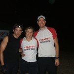 Threesome in the Woods -- Pre Race. Alejandro, Andrea and Steve