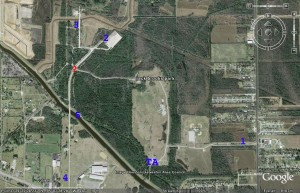 Jackbrooks Map with Checkpoints